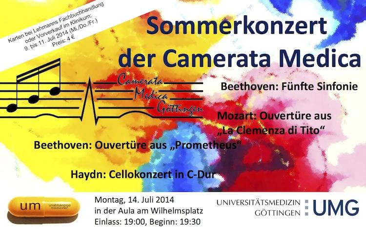 Plakat Sommerkonzert 2014